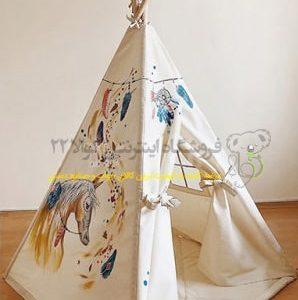 چادر بازی کودک طرح اسب مدل سرخپوستی