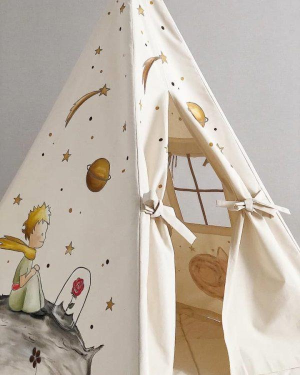 چادر بازی طرح شازده کوچولو مدل سرخپوستی