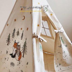 چادر بازی کودک طرح روباه مدل سرخپوستی