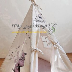 چادر سرخپوستی کودک 2 تا 10 ساله طرح اسب آبی